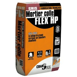 MORT.COLLE FLEX HP GRIS 25KG